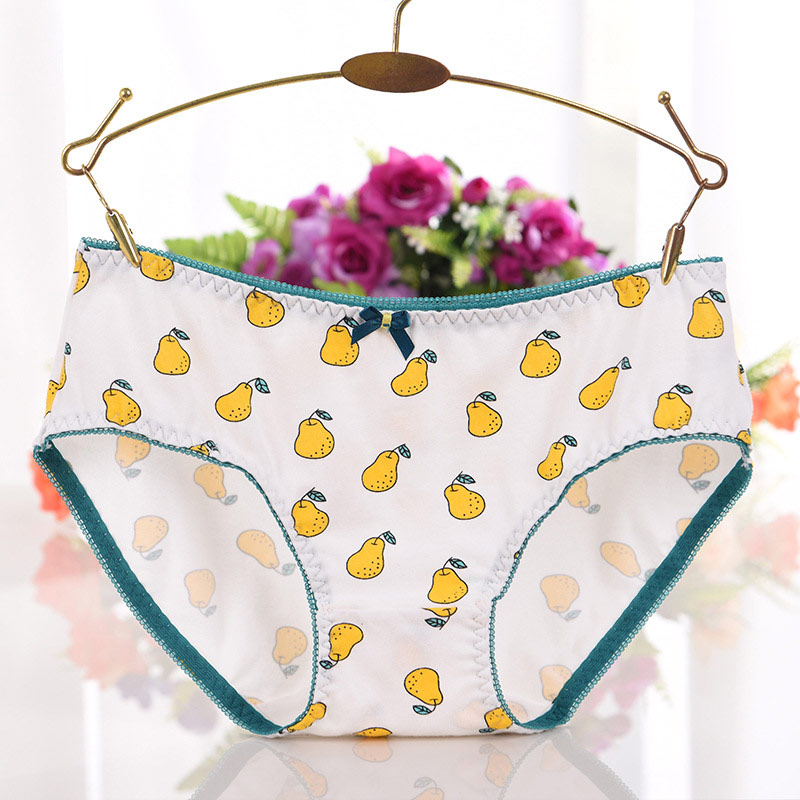 Buy Cute Cotton Women Girls Underwear Soft Panties Middle Waist Panties Briefs -MX8