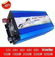 3000 Вт 6000 Вт пик 60 Гц DC 12 В в переменное 220 / 230 / 240 В от сетки синусоидальной формы солнечных инверторов 3000 Вт инвертор цифровой дисплей