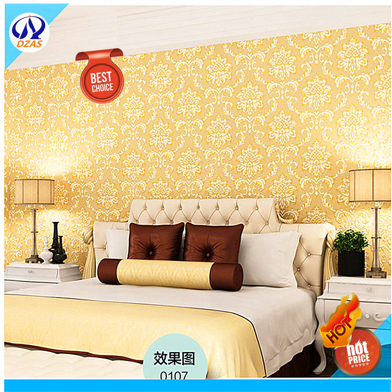 Top Quality Luxury Gold Color Wallpaper For Living Room Bedroom Damascus European Embossing Wallpaper Wall Paper Roll Wallpapers For Living Room Embossed Wallpaperquality Wallpaper Aliexpress