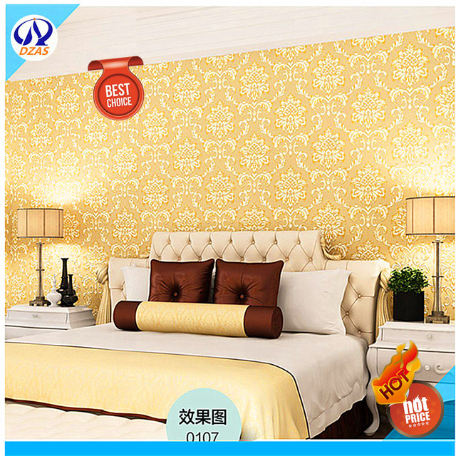 Top quality Luxury Gold Color Wallpaper For Living room bedroom ...