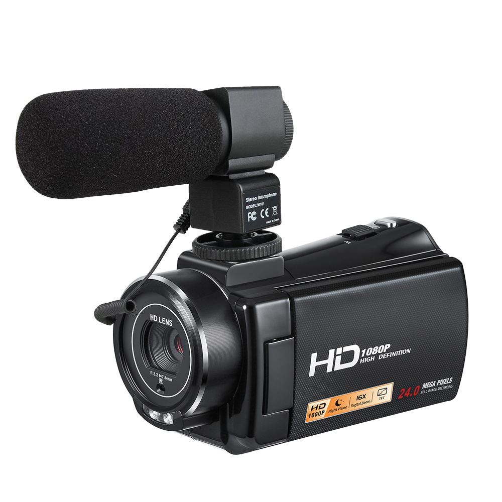 Caméra vidéo professionnelle caméscope numérique DVR HDV-V7 24MP 3.0
