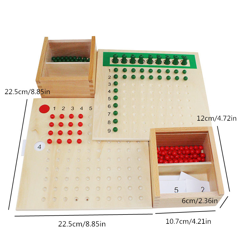 Montessori enfants enfants mathématiques jouets éducation en bois jouets Addition, soustraction, Multiplication et divisions conseils - 3