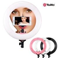 Tolifo 48 Вт 432 LED bi Цвет 3200 К 5600 К и затемнения Видео LED кольцо свет лампы для Камера Аксессуары для фотостудий телефон видео live