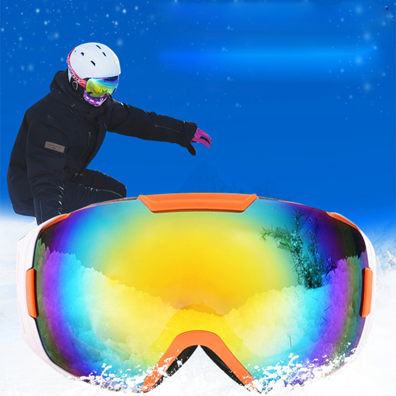 dbfcbda6c2 Evomosa Motorcycle Ski Goggles Double UV400 Anti fog Ski Mask Glasses Skiing  Professional Ski Glasses Snowboard Helemt Goggle-in Motorcycle Glasses from  ...