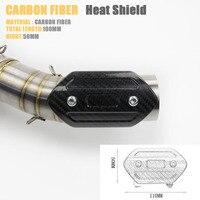 Motorcycle Exhaust Carbon Fiber Heat Shield Cover For GY6 Scooter For Exhaust Heat Shield Cover