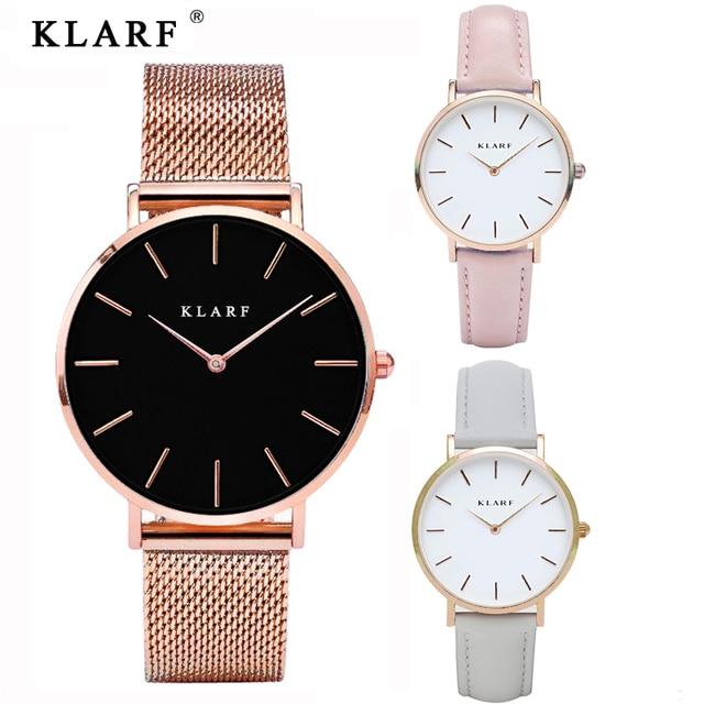 KLARF Amantes de Los Relojes de Cuarzo Relojes de Las Mujeres Marca de Moda de Lujo Señoras Del Deporte Reloj de Pulsera Relogio Feminino para Niña