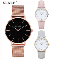 KLARF Luxury Quartz Women Watches Brand Fashion Sport Ladies Lovers Watch Clock Relogio Feminino For Girl
