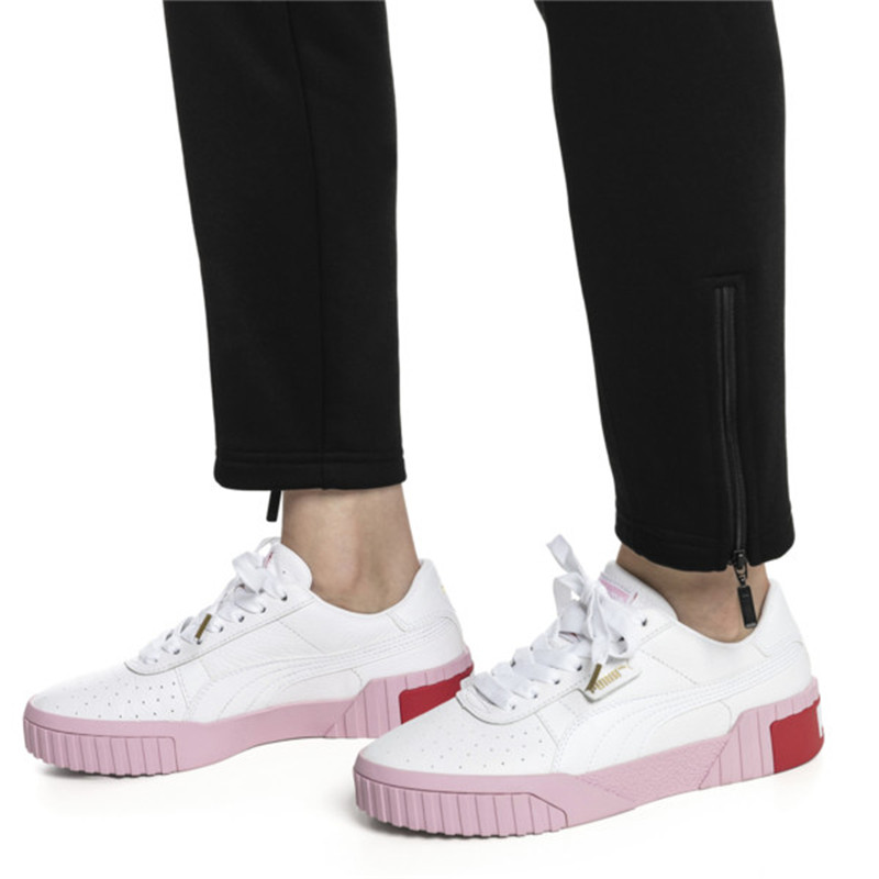Original Puma Women s Skateboarding Shoes Cali Wins Pink White Black  Low-top Leisure fc6eea2ff624