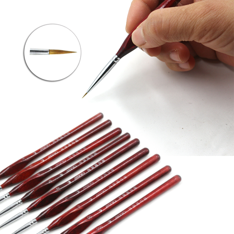 High Quality Paint Brush Miniature Detail 1PC Drawing Brushes Painting Supplies Fineliner Nail Art Paint Brushes Wolf Half