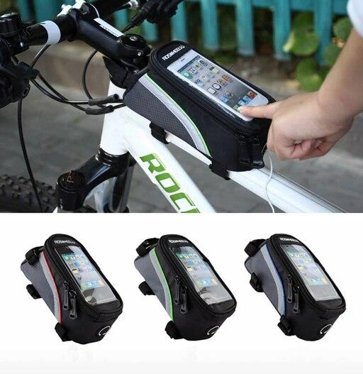Hot Universal Suporte Do Telefone de Bicicleta À Prova D' Água Sacos Bycicle Acessórios Do Telefone da Tela de Toque para o iphone Para Samsung suporte celular