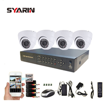 SYARIN Surveillance 4CH Full 1080N CCTV System AHD-NH 4 channel DVR AHD 720P Non-waterproof Indoor Safety Camera Kit