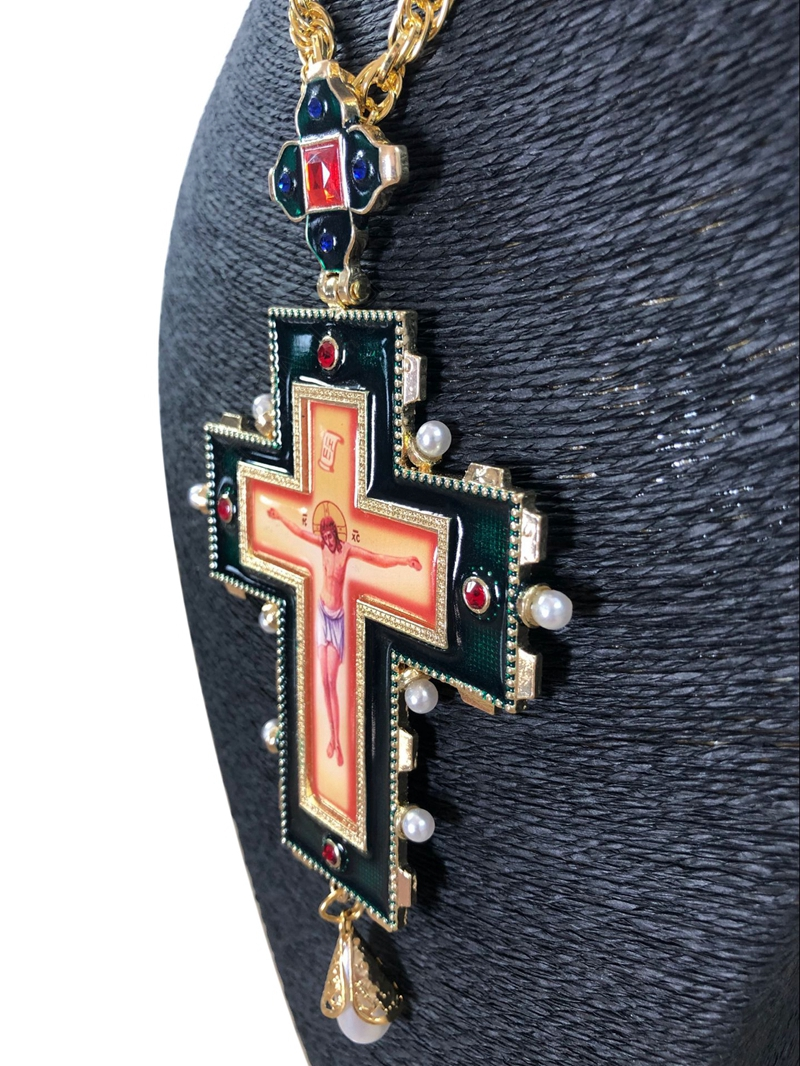 High Quality Pope Francis Pectoral Cross Orthodox Cross Necklace Religious Jesus Icon Metal Is Encrusted With A Crucifix