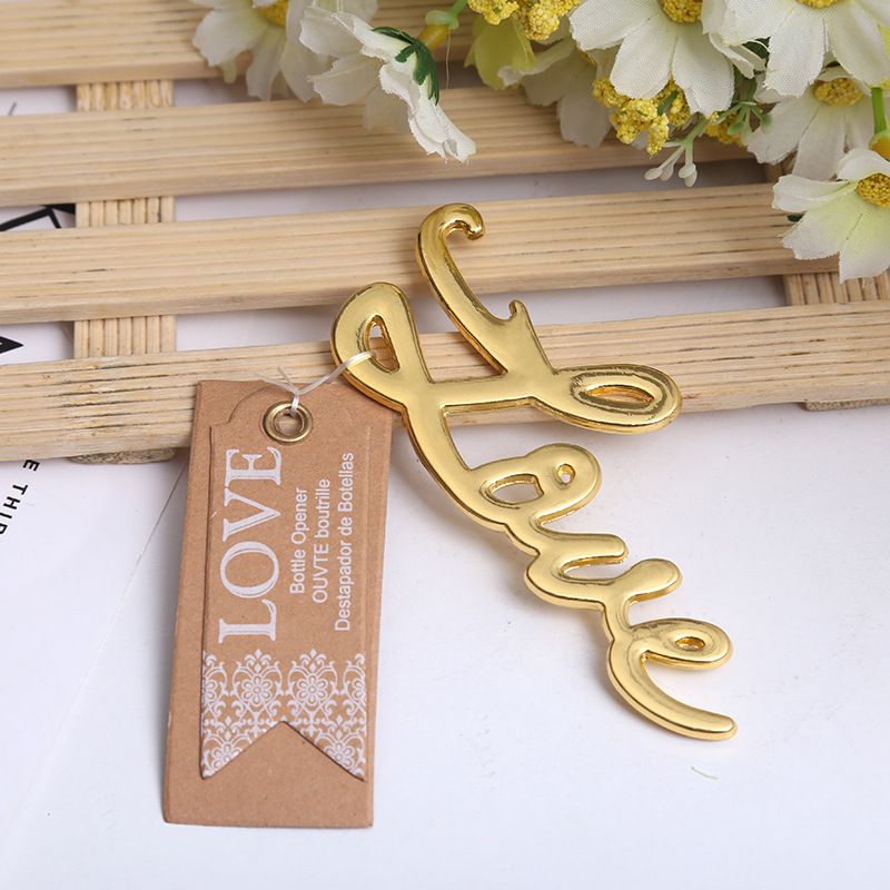 200pcs lot NEW ARRIVAL Best Quality Chrome Love Bottle Opener Wedding Bridal Shower Favors and Gift
