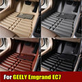 Car Floor Mats for Geely Emgrand EC7 all the years XPE+Leather Anti-slip car carpet Front & Rear Liner Auto Waterproof mats