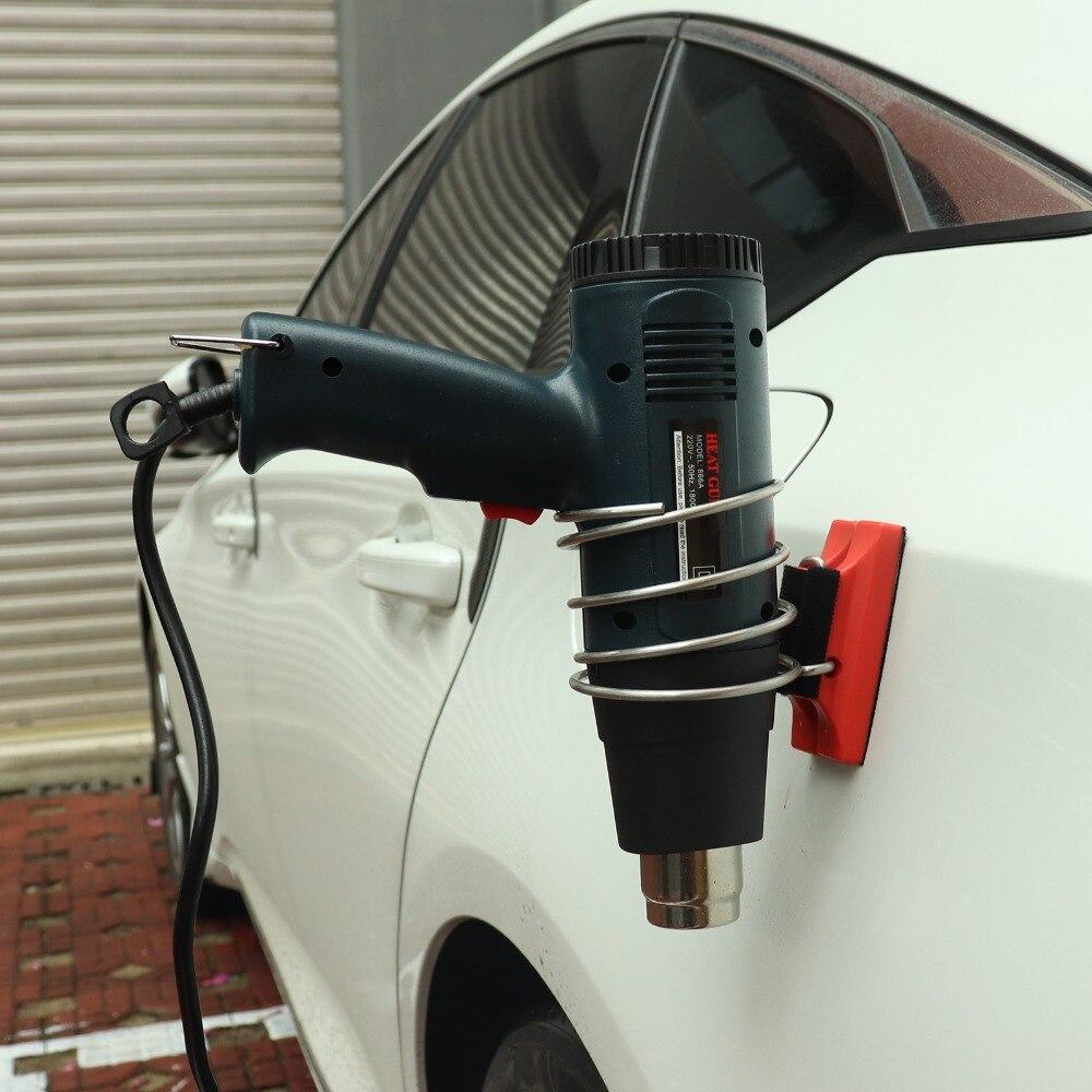 EHDIS araba vinil filmi Manyetik Destek Braketi için LCD Sıcak Hava Isı Tabancası Mıknatıs Demir Halka Tutucu Oto Tonu Araba yapışkan film Aracı title=