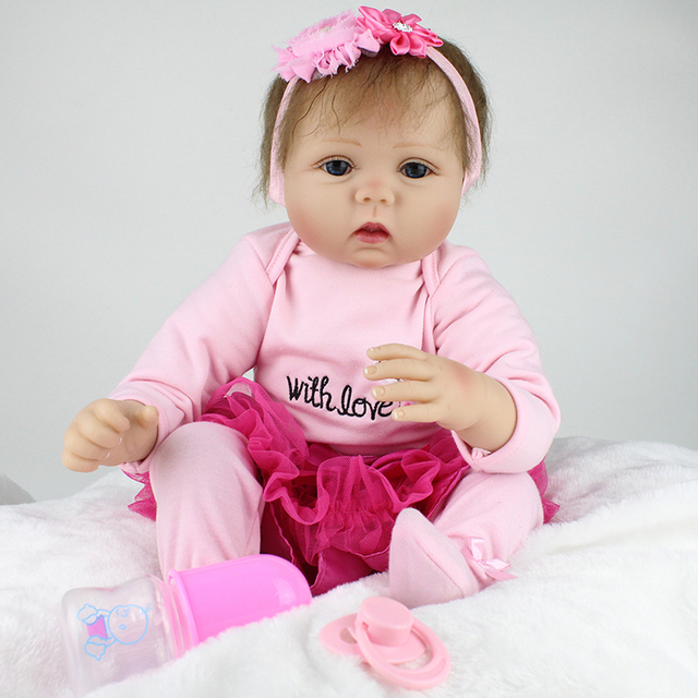 Doll Silicone Reborn Baby Dolls handmade Lucy 22 Inch New ...