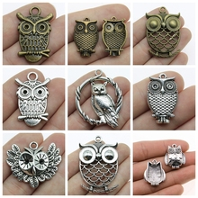 Owl Jewerly Mix Owl Pendant Charms For Jewelry Making Diy Craft Supplies Owl Decoration Jewelry Accessories 2019 owl
