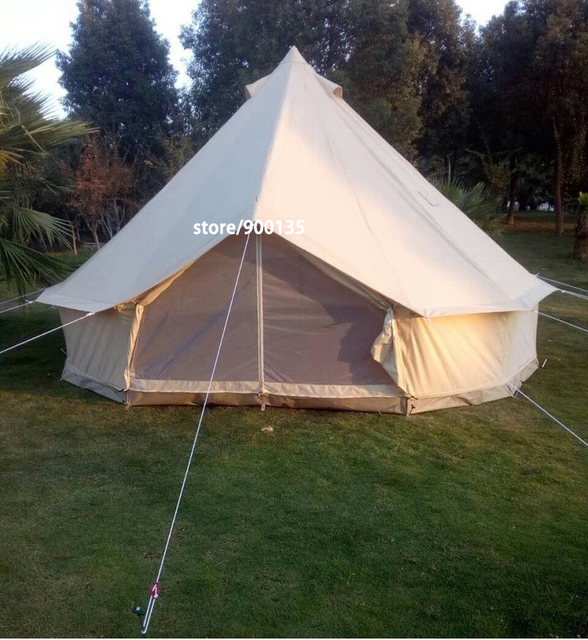 Australia Warehouse available and promotional price for Australia only Waterproof 4m Canvas Bell Tent Outdoor Gl&ing : tents australia - memphite.com