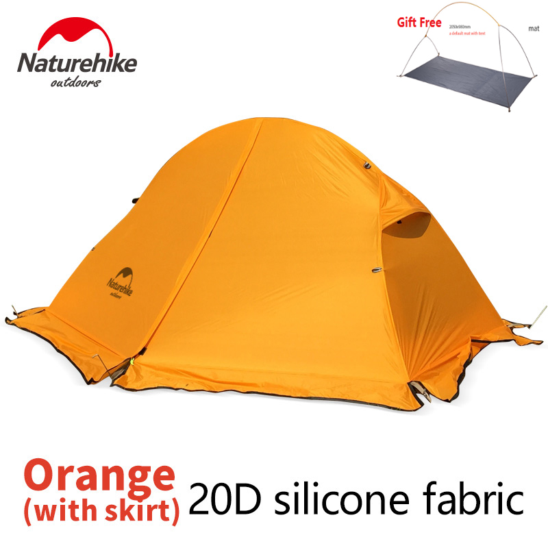 Naturehike DHL free shipping 1.5KG ultralight tent 1 person outdoor camping hiking aluminum waterproof Single tents factory sell naturehike factory store 2 1kg 3 4 person tent double layer waterproof fabric camping hiking fishing tents dhl free shipping