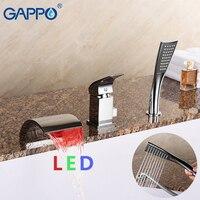 GAPPO bathtub faucet basin waterfall faucets shower mixer bath faucet mixer deck mounted faucets stainless bathtub spout