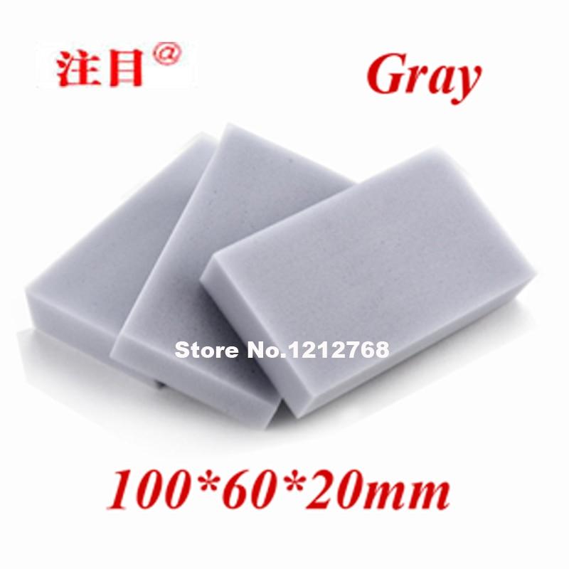 200pcs Magic Cleaning Sponge Gray100*60*20mm Melamine Sponge Eraser Multi-functional
