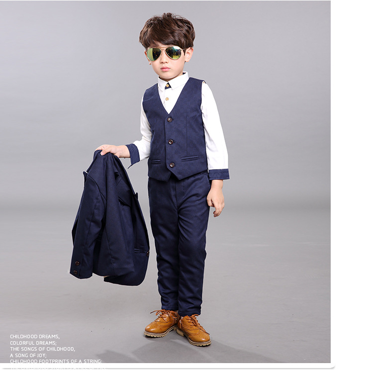 WF3021 2016 Diseñador de Traje de Los Muchachos Juego de Los Niños Para Las Bodas  Barato Personalizada Formal Vestimenta masculina Envío Libre Con Tres