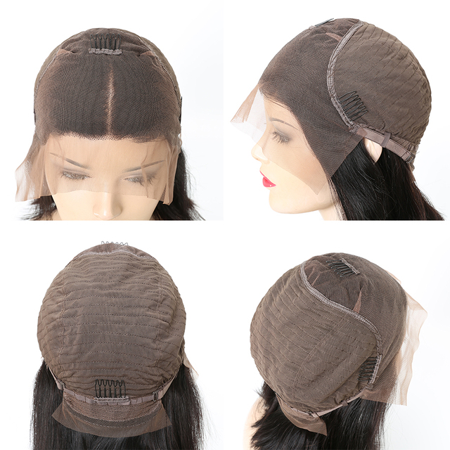 13×6 Short Bob Wigs Straight Lace Front Human Hair Wig