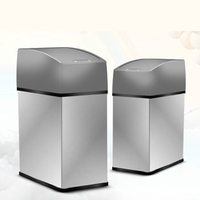 2017 New 5L Stainless Steel Garbage Trash Can Inductive Type Automatic Dustbin Smart Sensor Silver Square