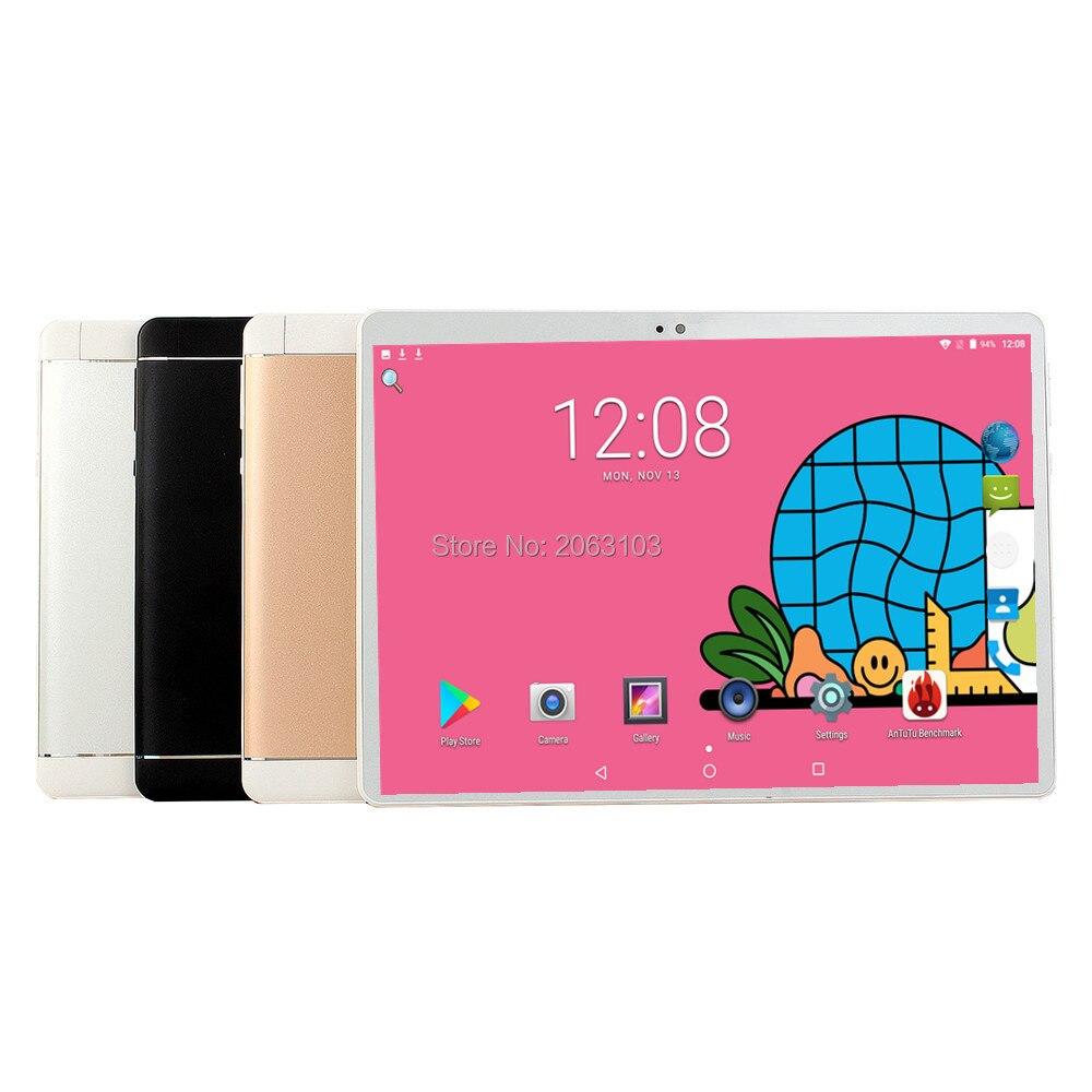 Free Shipping Android Tablet PC Tab Pad 10 Inch IPS 10 Core 6GB RAM 128GB ROM Dual SIM Card LTD 3G/4G Phone Call 10.1