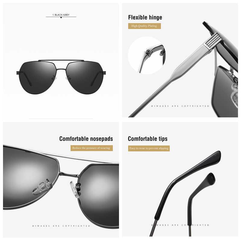 Sunglasses Men 2019 YASANDO Luxury Polarized Pilot Sun Glass Outdoor Sport Shades Lens UV400 Male Eyewear RP201921 with box