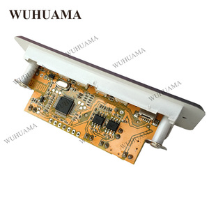 Image 4 - DC5V الرقمية بلوتوث MP3 فك مجلس مع 2*3 W مكبر للصوت قابلة للشحن SD FM راديو البسيطة USB Aux في سيارة DIY وحدة صوت