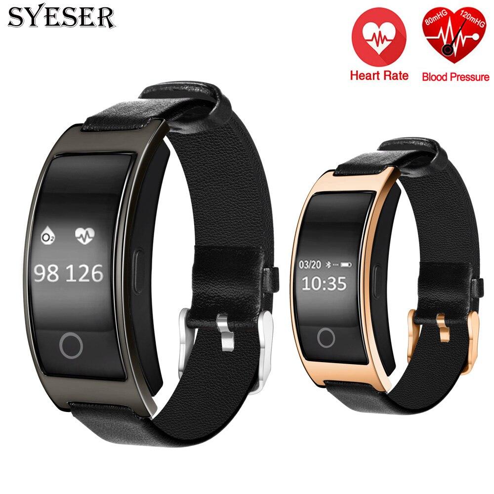 imágenes para SYESER nueva CK11S banda inteligente de la presión arterial Monitor de Ritmo Cardíaco podómetro Pulsera Smartwatch Para Android IOS vs mi banda de Fitness 2
