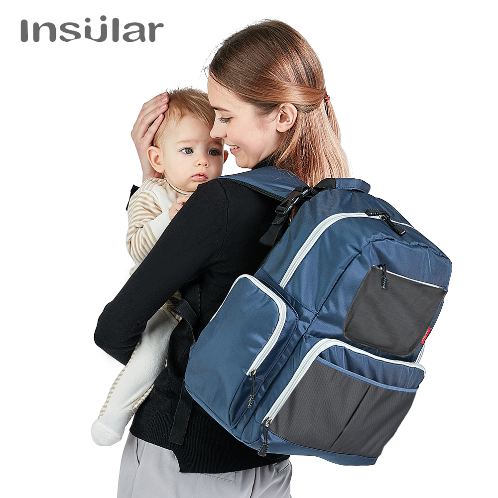Insular Fashion Nappy Diaper Bag Backpack Mother Bags Baby Stroller Mummy Bag Multi functional Nylon Large Capacity Travel Bags insular fashion nappy diaper bag backpack mother bags baby stroller mummy bag multi functional nylon large capacity travel bags