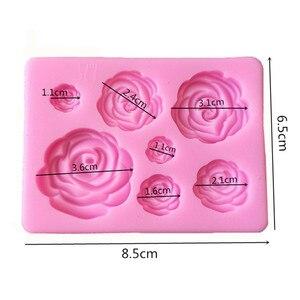 Image 2 - 1 Stuk Van Rose Bloem Silicone Mold Decoratie Tool, Chocolade Schimmel, Cakevorm, Plastic Mal, suiker Schimmel, Keukengerei