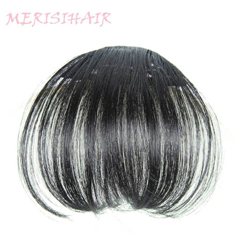 Detail Feedback Questions about MERISI HAIR Clip In Hair Bangs Hairpiece  Synthetic Fake Bangs Hair Piece Clip In Hair Extensions on Aliexpress.com  717a33bd82c