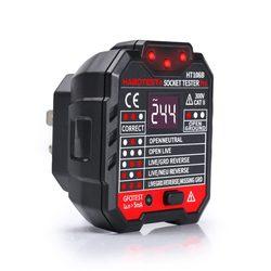 Mini miernik do gniazdka automatyczne elektryczne obwód biegunowości czujnik napięcia fazy ściany ue usa UK Plug Breaker Finder Outlet Tester|Wykrywacze wyłączników|   -