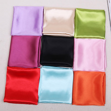 60cm Candy Colors Women Silk Scarf Fashion Shawl Head Covering Ladies Professional Small Squares New Design Scaves