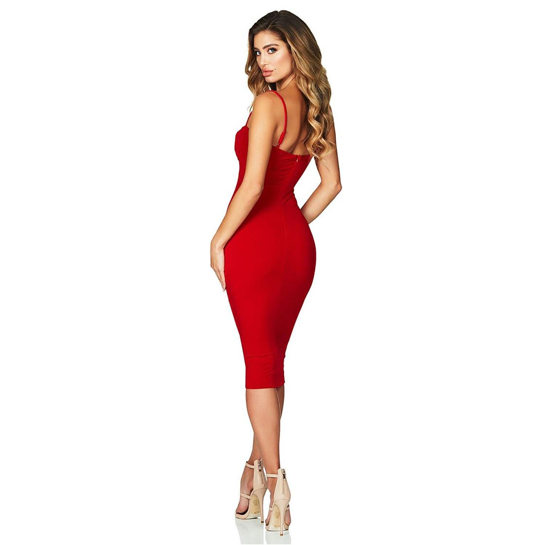 7b69159cdbc rouge D été Robe Moulante Sexy De Femmes Noir Rouge Soirée Robes Nouveautés  Meqeiss 2018 gris ...