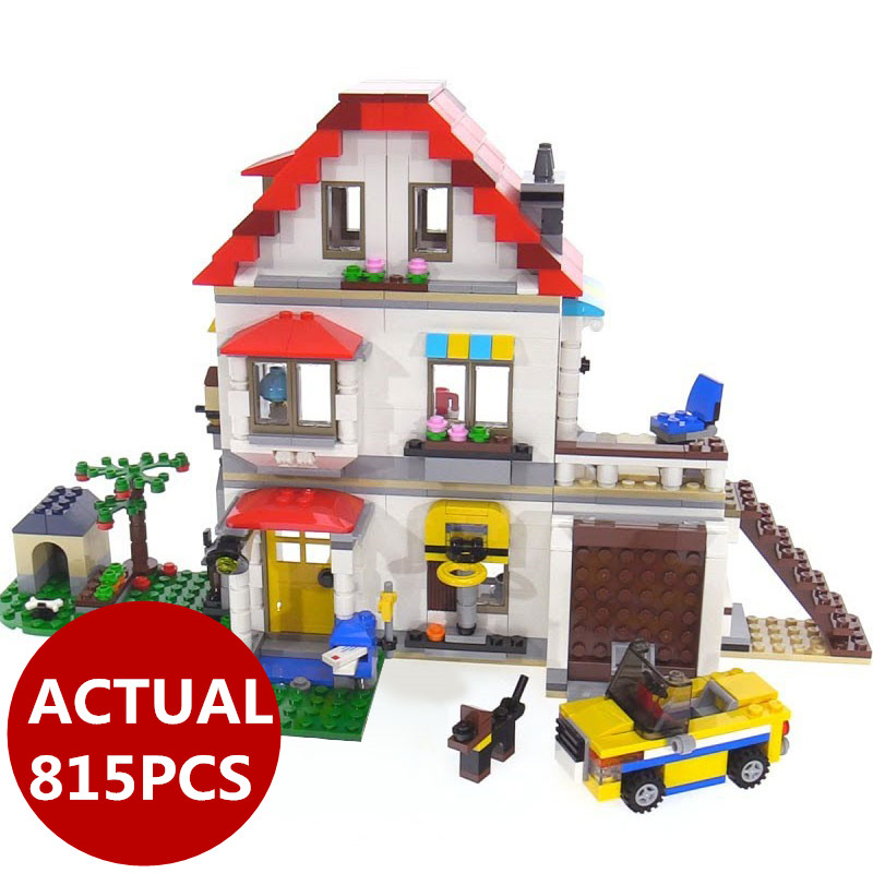 2018 New Lepin 24046 Creative Series The 31069 Family Villa Set 815Pcs Model Building Blocks Bricks Educational Toys Kids Gifts