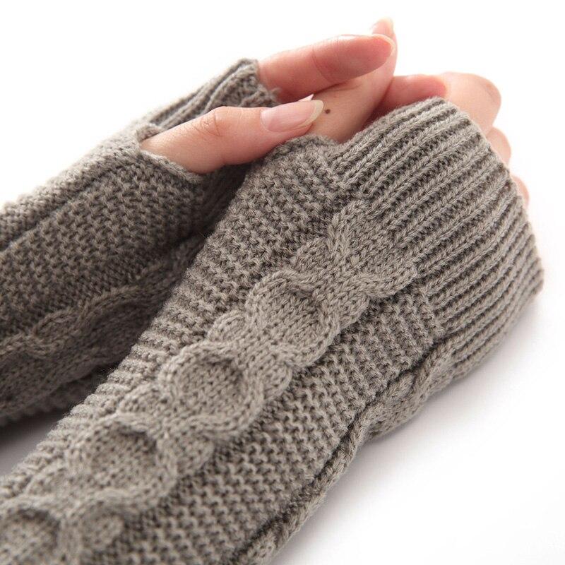 Girls Acrylic 8 Shape Style Fingerless Arm Warmer Women Stretch Long Fingerless Long Ladies Gloves Women Warm Arm Spring 2018