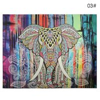 150 130cm 210 150cm Wall Carpet Elephant Tapestry Colored Printed Decorative Mandala Tapestry Indian Boho Crafts