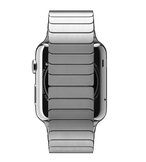 Image 2 - URVOI link bracelet for apple watch band series 5 4 3 2 1 stainless steel strap for iwatch with butterfly buckle 38/40/42/44mm-in Watchbands from Watches
