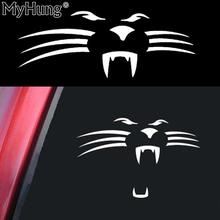 Car Styling Stickers Roaring Lion Car Sticker Accessories For VW Jetta Passat Golf Ford Focus 3 4 Peugeot 206 307 3008 1pc