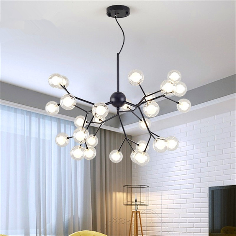 Nordic Designer Art Tree Branch Chandeliers Creative Dining Room Lights Coffee Bar Led Loft Light Fixtures Free Shipping