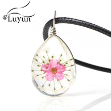 Luyun Women's Jewelry Daffodil Dried Flower Necklace Drip Suspension Wholesale Free Shipping