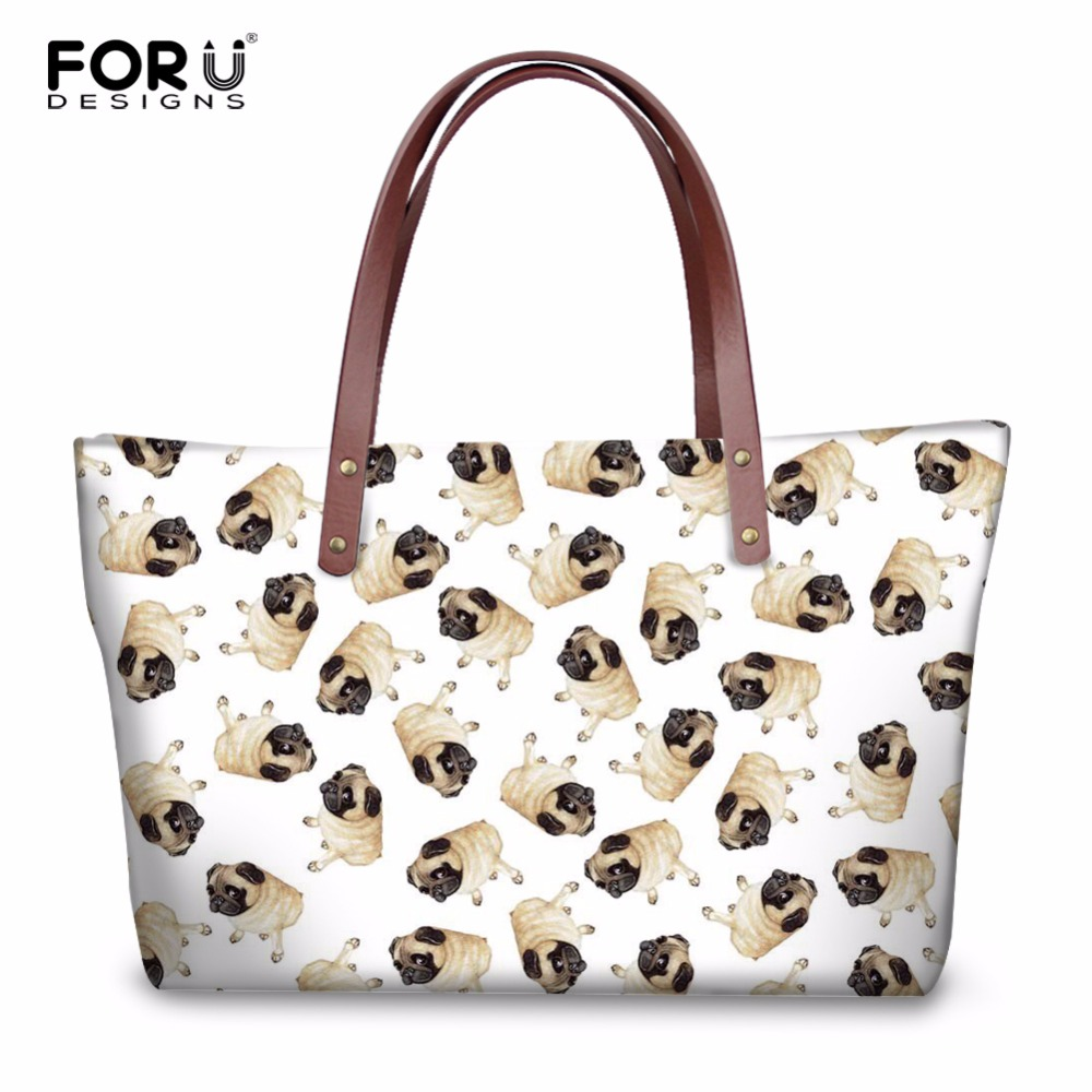 FORUDESIGNS Cute Animal Pug Dog Pattern Women Casual Cross Body Bags High Quality Fashion Girls Tote Shoulder Bags for Female велосипед scott aspect 700 27 5 2016