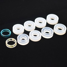 SNASAN 8pieces flat cambered ring Silicone Mold for jewelry resin mold Resin Mould handmade tool DIY Craft epoxy