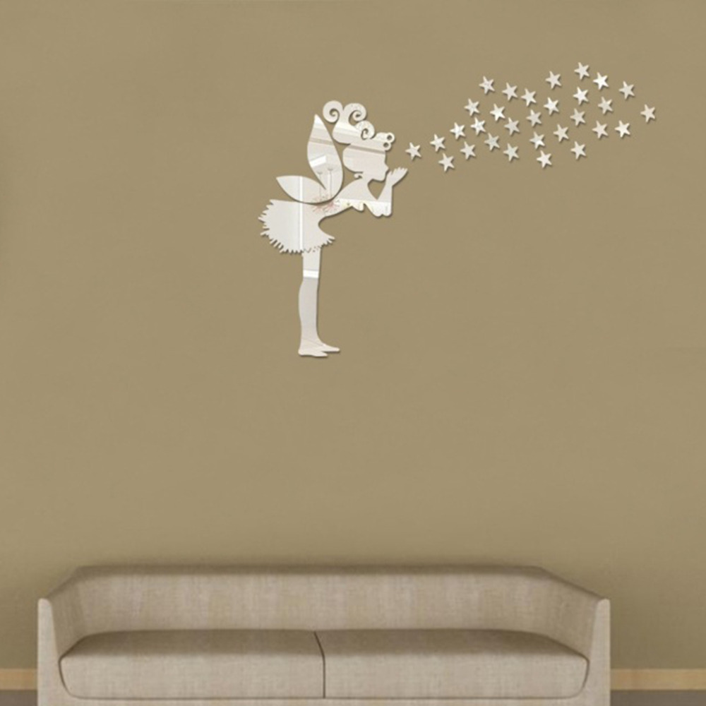 Online kopen Wholesale meisjes muur spiegel uit China meisjes muur ...