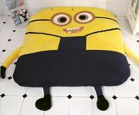 1.5x2.0m/1.8x2.0m Minions Cartoon Sofa Bed Double Sleeping Beanbag For Adult Nap Mattress Cushion Lazy Twin Bed Bean Bag Tatami