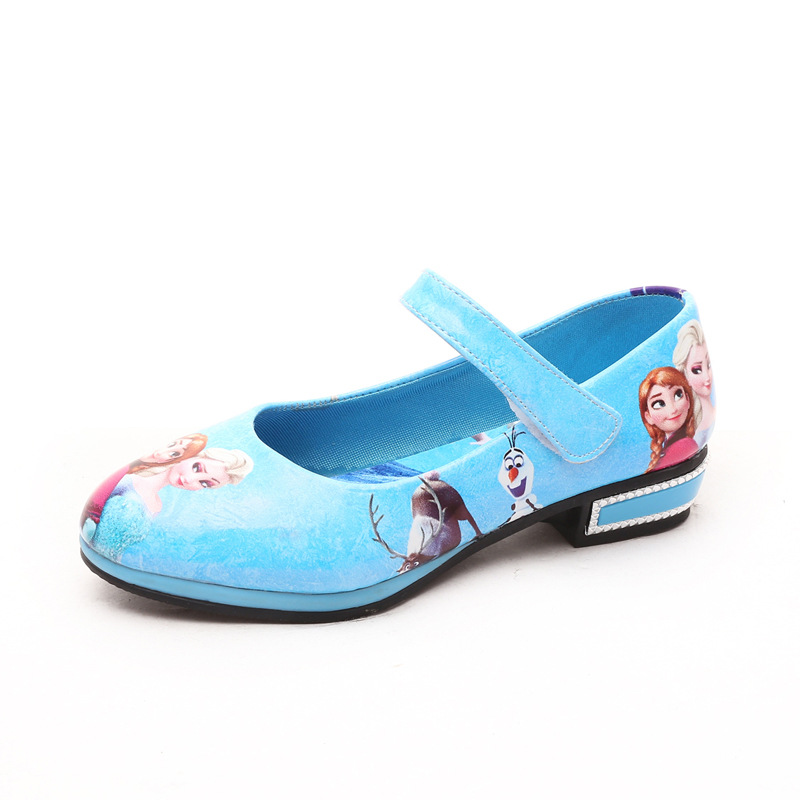 2016 elsa shoes children cartoon shoes girls blue princess shoes kids anna girls elsa leather sneakers